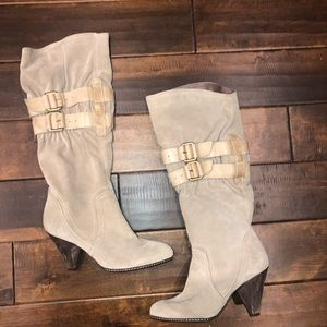 Women's size 7 apepaza tall suede boots